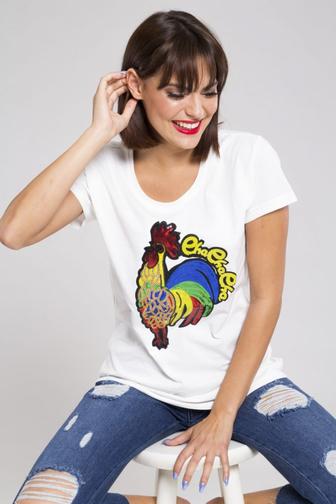 Tshirt λευκό rooster