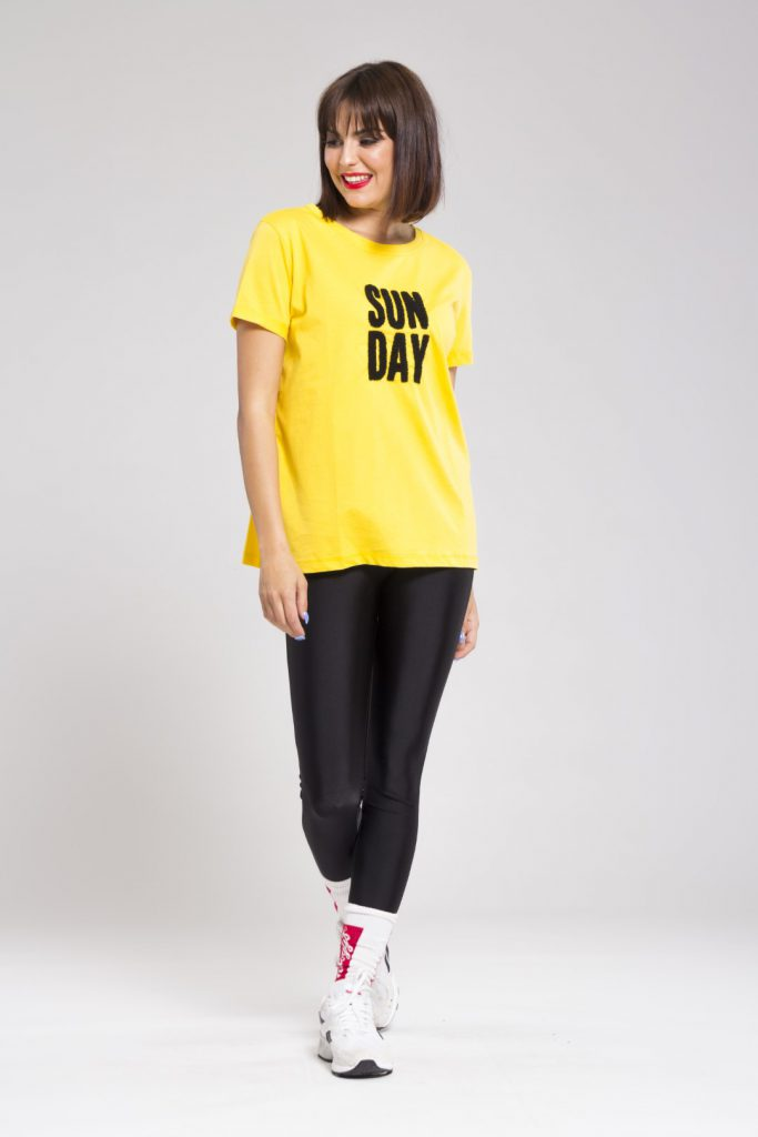 Yellow sunday tshirt